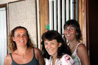 Les filles de Gan Ainm : Stéphanie, Agnès et Céline.
