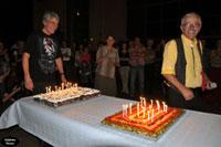 Henri et Steph au moment des gâteaux.
